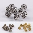 2mm Silver/Gold/Bronze Tibetan Silver Round Heart Hollow Bead Jewelry Findings