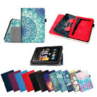 For Amazon Kindle Fire HD 7 inch Tablet Folio Leather Smart Case Cover 23 Colors