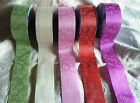 "5mtrs x 2"" WIDE BEAUTIFUL ELEGANZA FLORAL POLY RIBBON weddings / bouquets/ cakes"