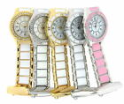 Henley Glamour Ladies Nurses Beautician Fob Watch White Pink Gold Tone Enamel