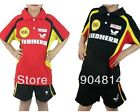 2013 Butterfly Child boy and girl Badminton / Table tennis Polo Shirt +shorts
