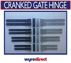 """2x Gate Hinge Cranked Heavy Duty Hook And Bands Stable Farm Door 12"""" 14"""" 16"""" 18"""""""