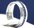 316L Stainless Steel Unisex 0.01 carat Blue Sapphire CZ Wedding Band Ring