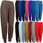 NEW LADIES WOMENS PLAIN HAREM HAREEM ALI BABA TROUSERS PANTS SIZES 8-20