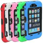 Heavy Duty Dual Layer Hard Case Amor Rubber Silicone Cover for iphone 3G 3GS
