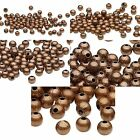 100 Antique Copper Finished Steel Metal Round Spacer Accent Beads Small - Big