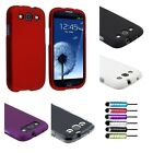 Black/White/Red/Purple Hard Cover Case+Stylus+Guard For Samsung Galaxy S3 i9300