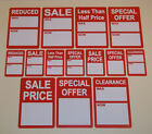 Bright Red SALE REDUCED  Price Point Stickers, Clothes Display Swing Tag Labels
