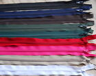 SECONDS ZIPS- VARIOUS COLOURS AND DESIGNns- CHOOSE, NYLON, METAL OR PLASTIC