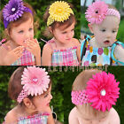 13Pcs Baby Girl Headband Hairband Hairbow Bibs Hair Flower Clip Headwear