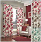 FANTASTIC PENCIL PLEAT CAMDEN CURTAINS - BEAUTIFUL FLORAL PATTERN - FULLY LINED!
