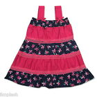 Girls Cotton Summer Dress Clothes Outfit Pink Blue Size 02 03 4t 5 6x years