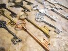 Assorted Steampunk Key Charms Pendants-Skeleton Keys-Big Keys-Bronze,Silver,Gold