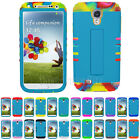 KoolKase Blue Hybrid Kickstand Hard Cover Case for Samsung Galaxy S4 S IV i9500