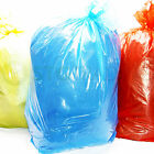 COLOURED REFUSE SACKS BAGS BIN LINERS RUBBISH BAG RED GREEN YELLOW BLUE WHITE UK