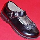 NEW Girl's Toddler's KK PEARL Black Flower Velcro Fashion Mary Jane Dress Shoes