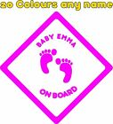 Personalised Baby on Board Car Stickers Decals A673