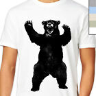 BIG BEAR T-Shirt. Dont Feed Angry Scary Grizzly, Growl Retro Vintage Rare Black