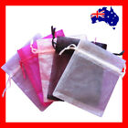 200 Organza Jewellery Gift Pouch Bag-10x12cm-5 Colours-New