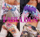 NEW SEXY WOMEN'S LEGGINGS SIZE 6-8-10 FASHION TIGHTS TATTOO PANTS GIRLS CLUBWEAR