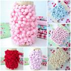 SASS AND BELLE POM POM BOBBLE TRIM ROLL / CARD  pink lilac red blue cream