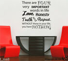 LIFE INSPIRATION QUOTE - 4 Important words- DIY Removable wall decal - fw 1