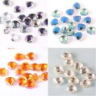 10pcs Sectorial Glass Crystal  Spacer Loose Finding Beads 3mm Jewelry DIY 9x10mm
