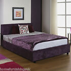 NEW - UPHOLSTERED FABRIC 3FT/4FT/5FT/6FT BEDSTEAD+MEMORY FOAM/ORTHO MATTRESS