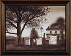 THE BIRDS AND THE BEES by Billy Jacobs FRAMED PRINT 15x19 Beehives Birdhouse