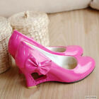 Women's Wedge Pumps High Heel Side Bowknot Shoes New Style US Size 4-7.5 Z065