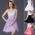 Fashion Women's Sequins Bridesmaid Prom Party Cocktail Short Dresses Evening New