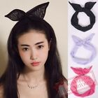 Bunny Ear Chiffon Scarves Hair Band Ribbon Chiffon Bow Hair Scarf Tie