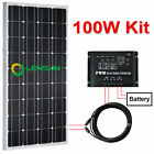 100W 12V Mono Solar panel kit,regulator,cable,bracket,perfect for boat,motorhome