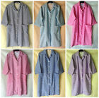 NEW LADIES CHECKED PRINT COLLARED BUTTON UP THREE QUARTER SLEEVE APRON/COAT