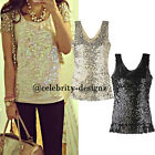 tp75 Celebrity Style Vintage Bling Bling Sequin Strapless Party Singlet Top
