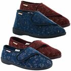 New Ladies Comfy Warm Vine Pattern Dunlop Velcro Slippers Shoes Size UK 3-8