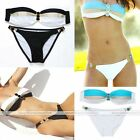 Women Lady Swimsuit Swimwear Padded Top Strapless Bikini Set Bathing Beachwear