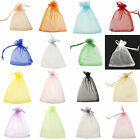 100xLARGE QUALITY ORGANZA COLORS POUCH Wedding FAVOUR BAGS Gift 7x 9cm Pick Size