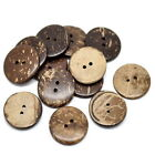 50PCs Sewing Coconut Shell Buttons 2Holes Pattern Cloth Brown M0892