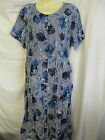 NEW LADIES EX BERKERTEX NAVY BLUE FLORAL PRINT SCOOP NECK BUTTON FRONT DRESS