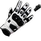 RICHA ROCK WHITE SHORT HARD KNUCKLE SPORTS LEATHER MOTORBIKE MOTORCYCLE GLOVES
