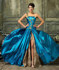 New Formal Bridesmaid Wedding Evening Ball Gown Long Split Prom Party Grad Dress