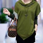 Fashion Womens Batwing Tops Dolman Loose Cowl Neck T-Shirt Blouse Long Sleeve
