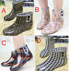 4 STYLE WOMENS LADIES FLAT JELLY WELLIES LOW ANKLE RAIN BOOTS SHOES UK 2 3 4 5 6