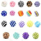 Acrylic Nice Rhinestone Resin Ball Beads M1050
