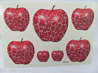 Quality Unisex Arty Cracked Mosaic Red Apples Fruit Temporary Tattoos UK Seller