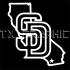 SAN DIEGO PADRES STICKER CALIFORNIA VINYL  DECAL VEHICLE GRAPHIC CUSTOM  BOAT on Ebay