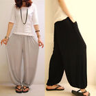 Womens Girls Loose Wide Leg Bloomers Casual Harem Yoga Sport Pants Trousers