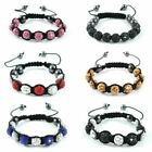 Shamballa Bracelet Czech Crystal Paved Clay Friendship Beads Disco Balls Bling