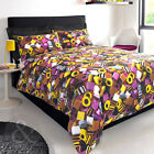 #BEDDING LIQUORICE SWEETS DUVET COVER - Pink Yellow Chocolate Brown Bedding Set